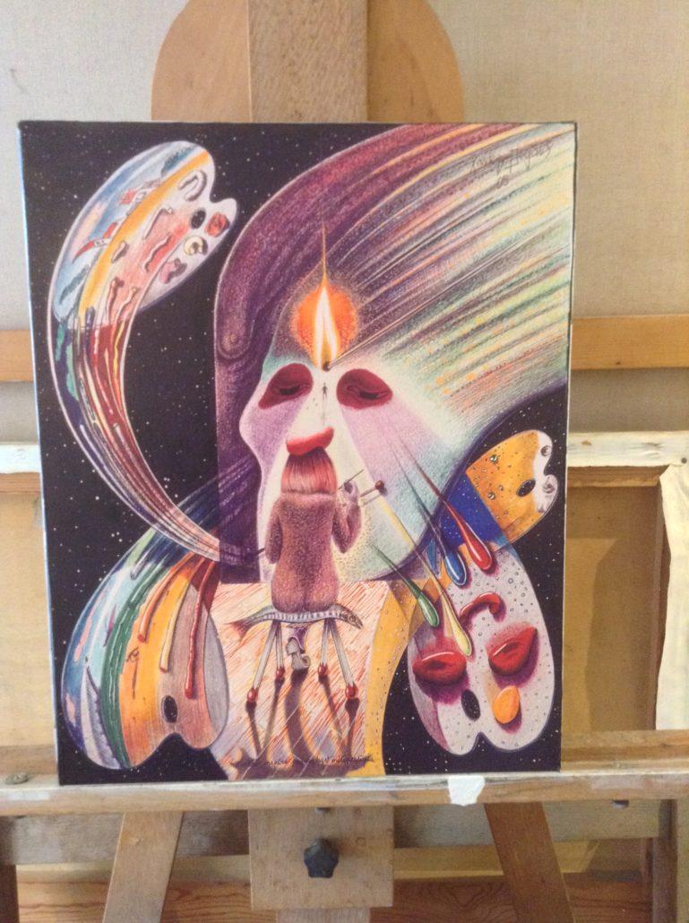 L'artiste inspiré par un sujet métaphysique